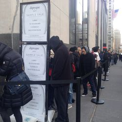 The line right before the doors opened stretched from Dey Street all the way down Cortlandt Street
