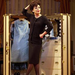 """In this undated theater image released by The O & M Company, Tracie Bennett is shown in a scene from """"End of the Rainbow,"""" in New York."""