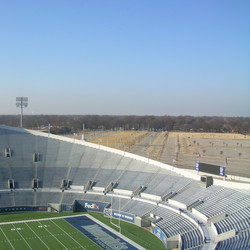 Tiger Lane, the main tailgating area, stretches out in front of the stadium