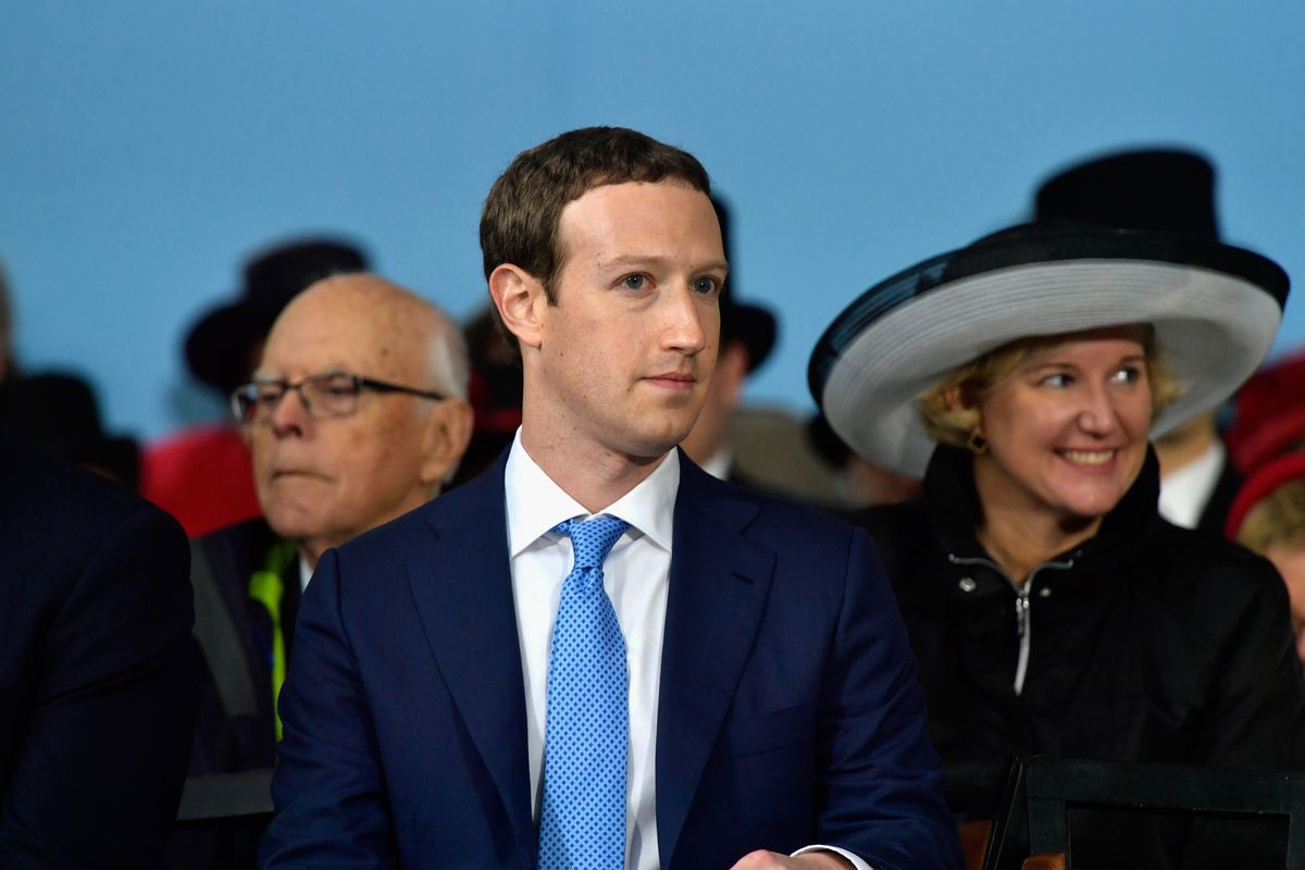 Facebook CEO Mark Zuckerberg at Harvard's commencement