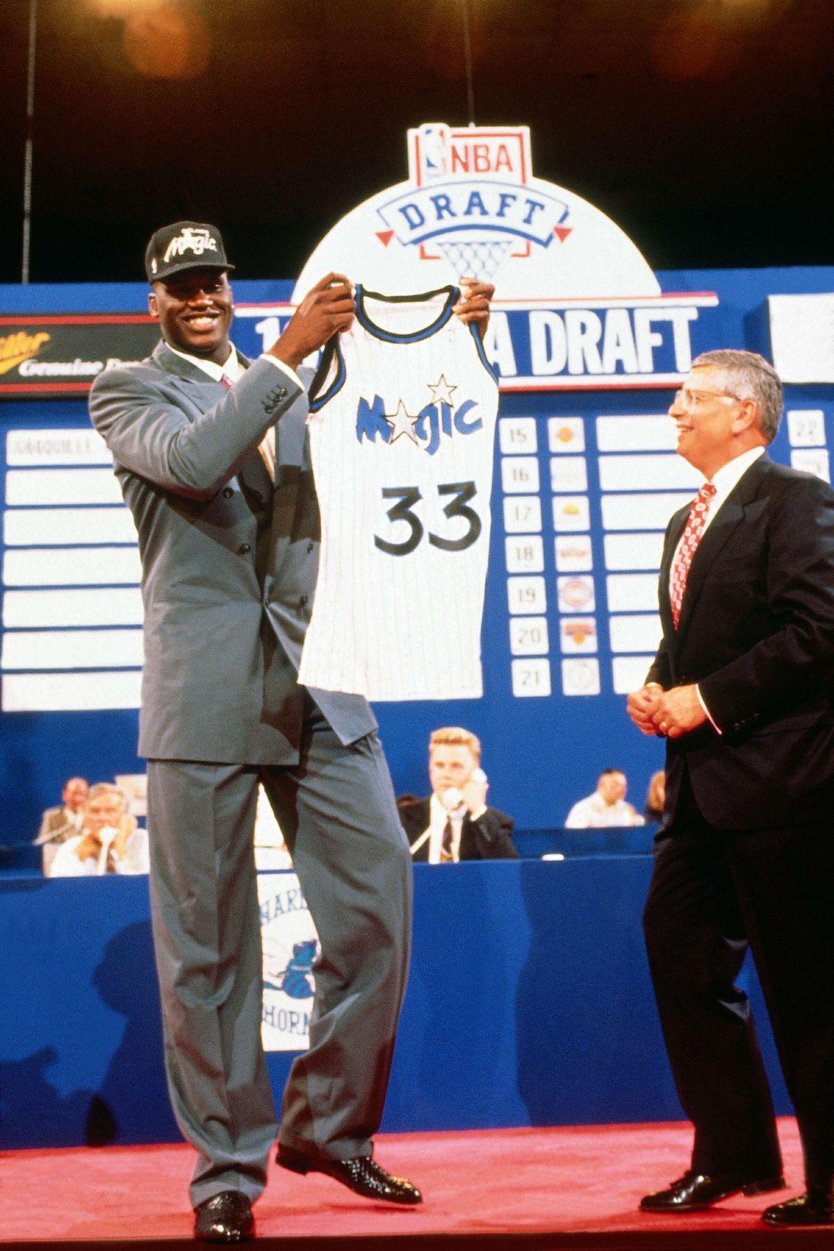 1992 NBA Draft - Orlando Magic first round draft choice Shaquille O'Neal