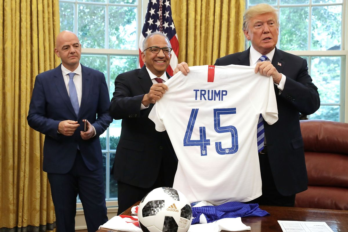 President Trump Meets With FIFA President Gianni Infantino At White House