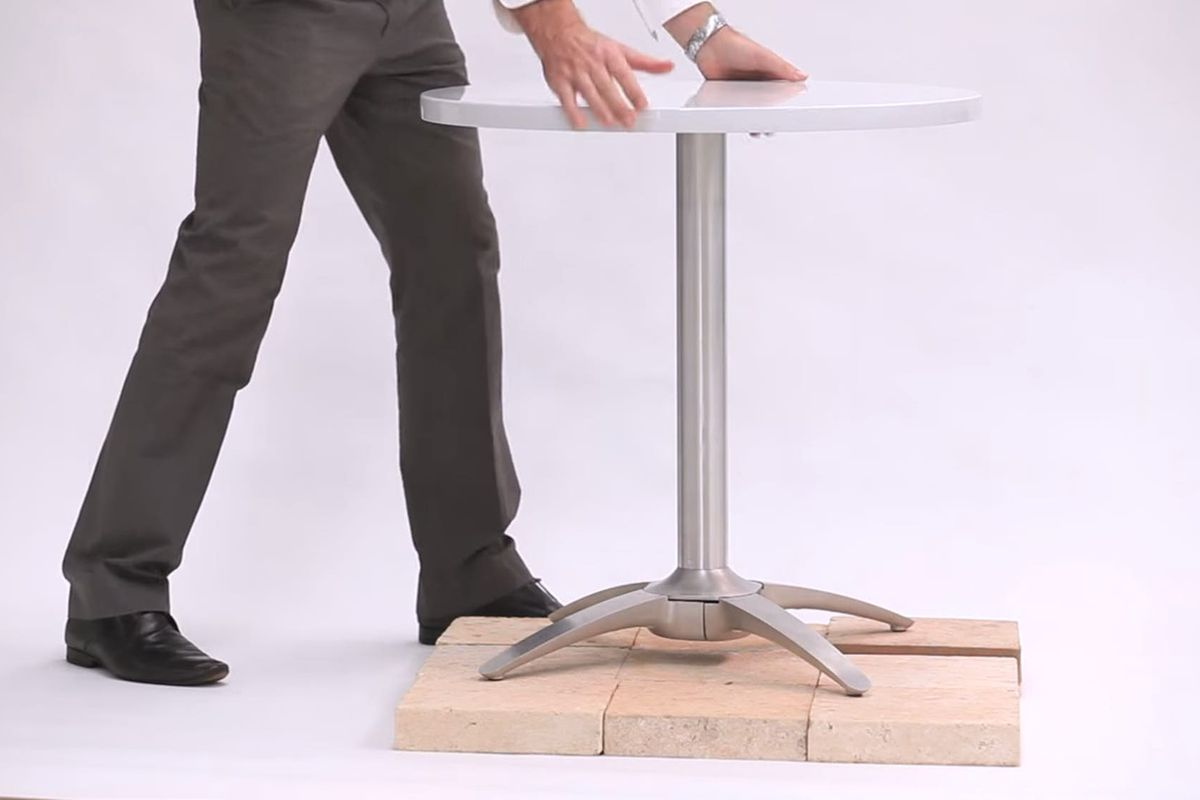 Inventor Creates Brilliant Norock Cafe Table Curbed - Standing cafe table