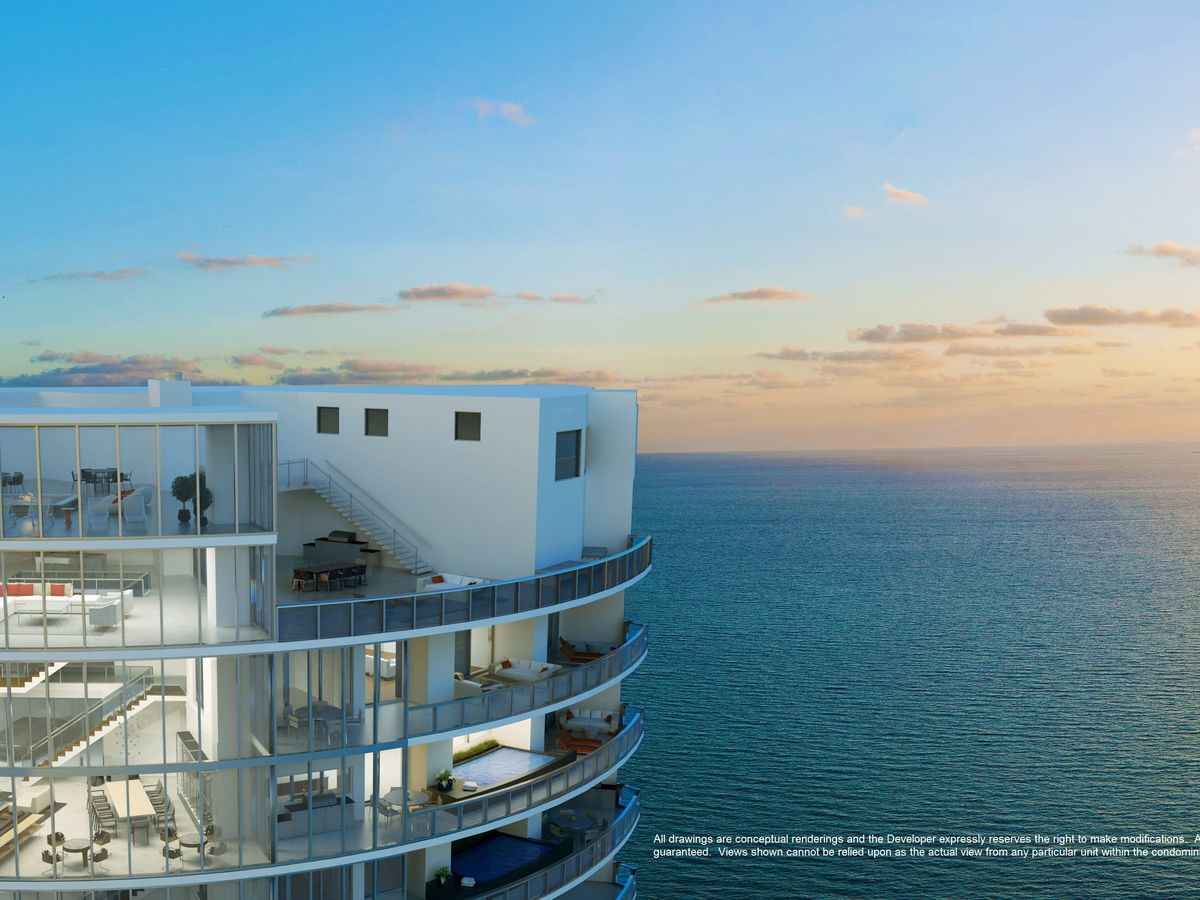 Rendering of the Porsche Design Tower penthouse in Sunny Isles Beach, Florida
