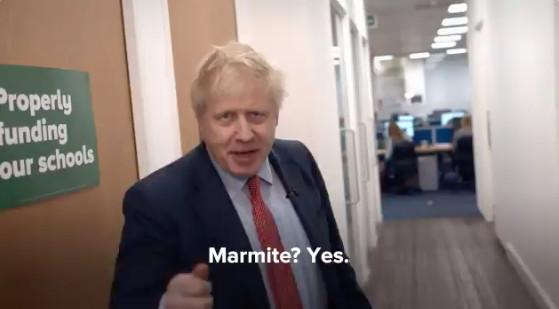 Boris Johnson says yes to Marmite on Twitter