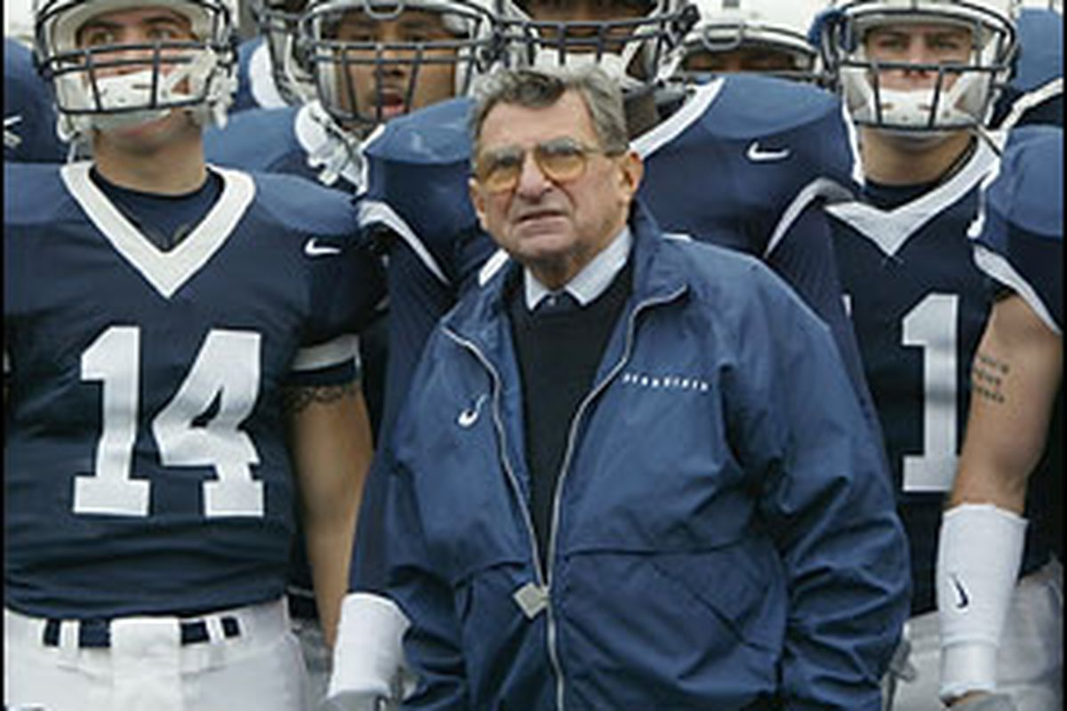 The NCAA removed Joe Paterno as the winningest college football coach today when it vacated  Penn State wins for the past 14 seasons.