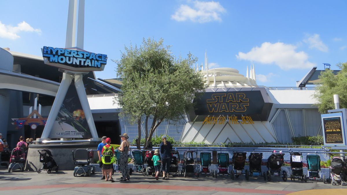 View of Hyperspace Mountain sign