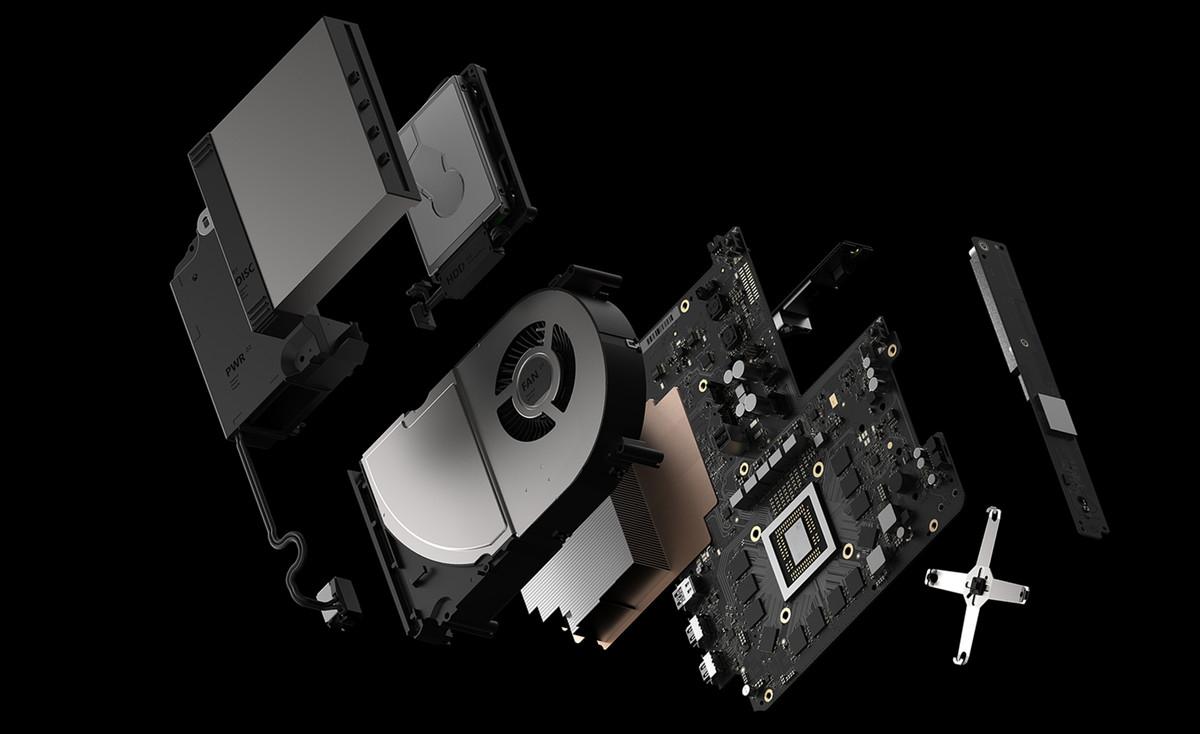 Xbox One X / Scorpio exploded view