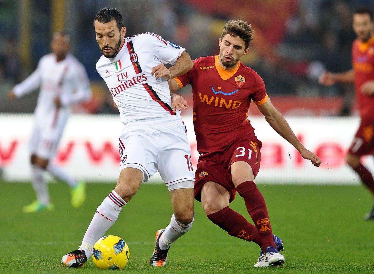 AC Milan's defender Gianluca Zambrotta (