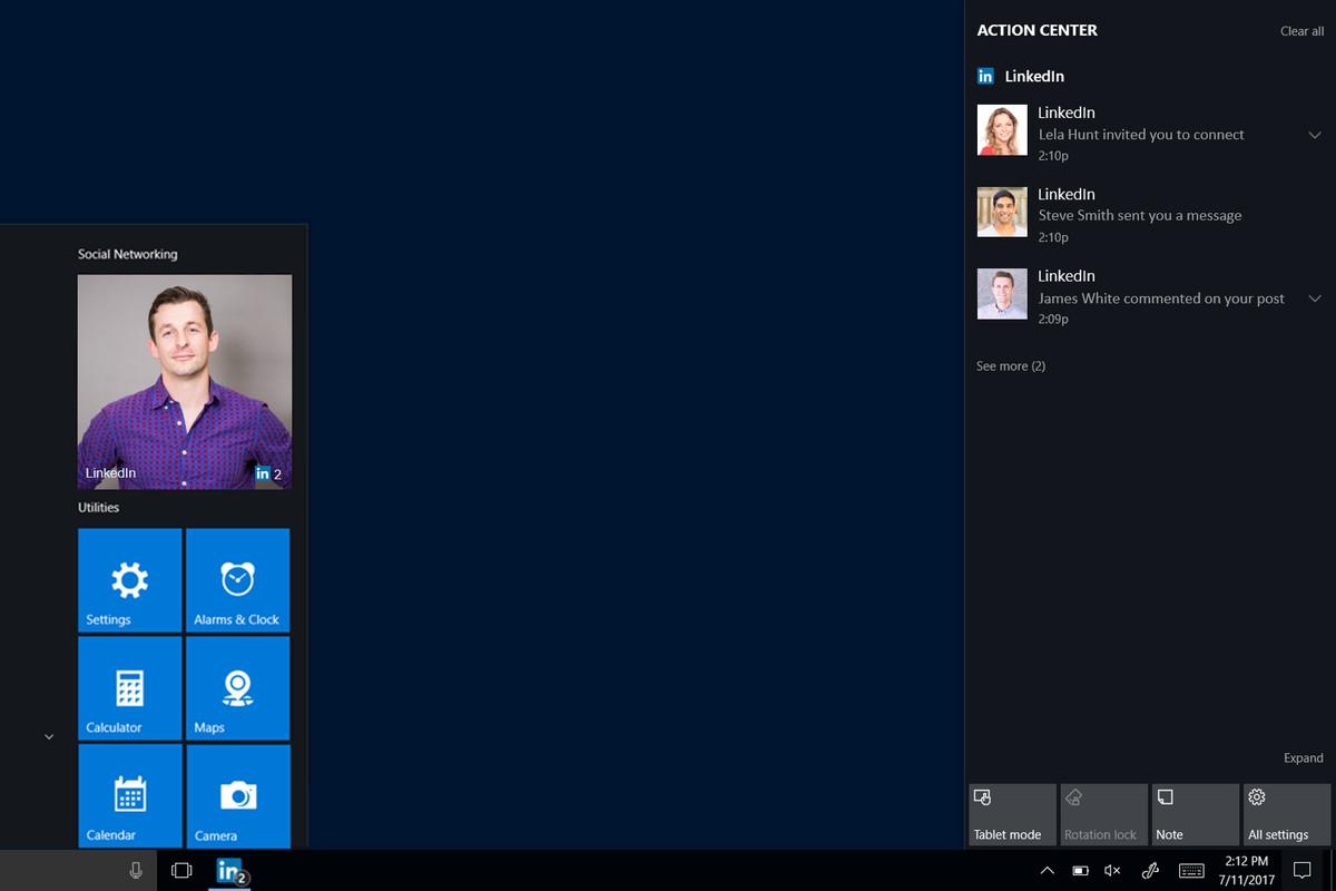 LinkedIn's new Windows 10 app brings invite notifications straight