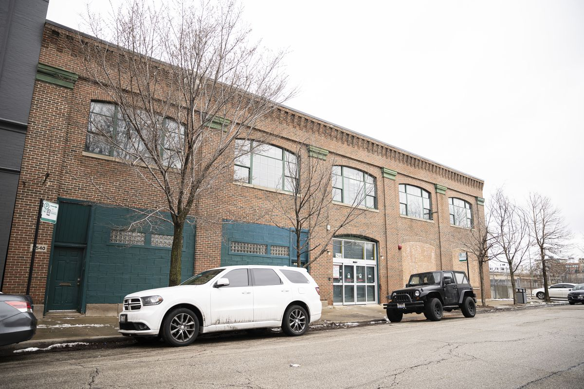 A view Tuesday of a building that would be adapted for a $30 million e-sports arena in the 2500 block of South Wabash Avenue.