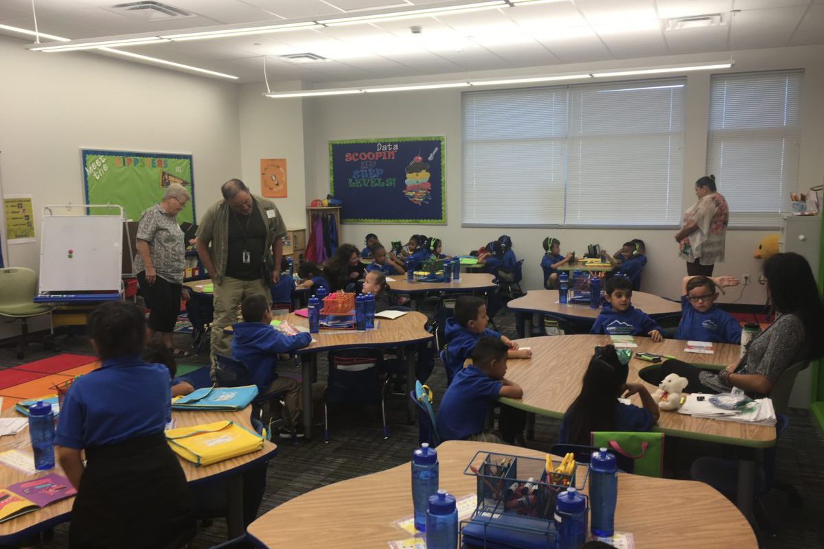 Adams 14 community members visited a KIPP school in Denver in September as they reviewed a charter application from the network. (Photo courtesy of KIPP Colorado)