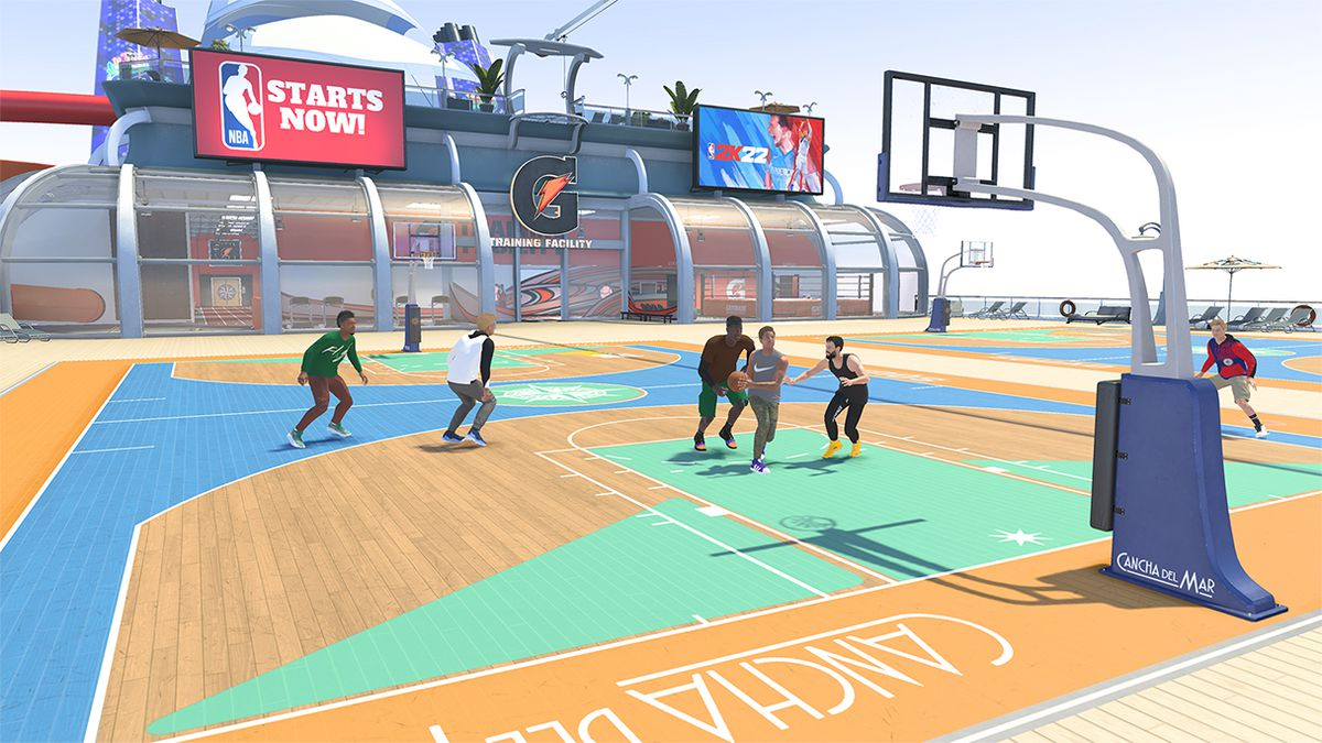 NBA 2K22 adds a cruise ship to the park and the city modes.