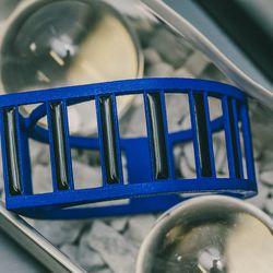 """Track bangle, <a href=""""http://aeaone.com/shop-main/zebra-bangle-4"""">$128</a>"""