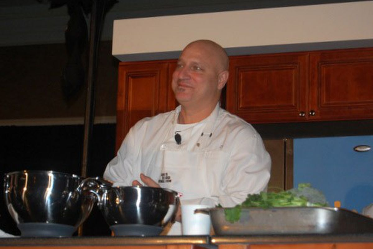 Colicchio, probably after one of the many zingers from Ming Tsai.