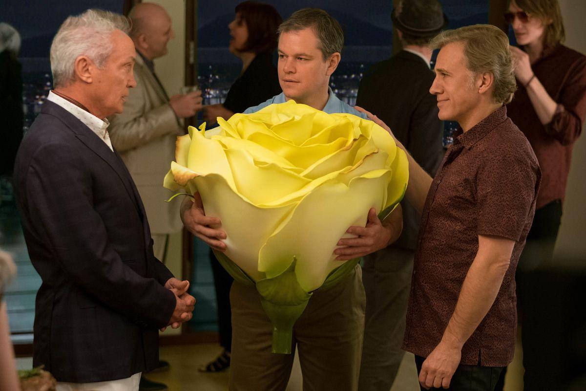 Udo Kier, Matt Damon, and Christoph Waltz in Downsizing