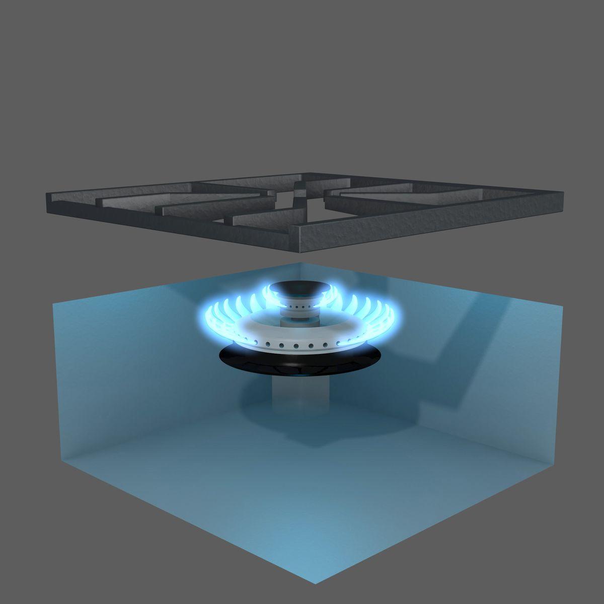 Illustration of a power burner.