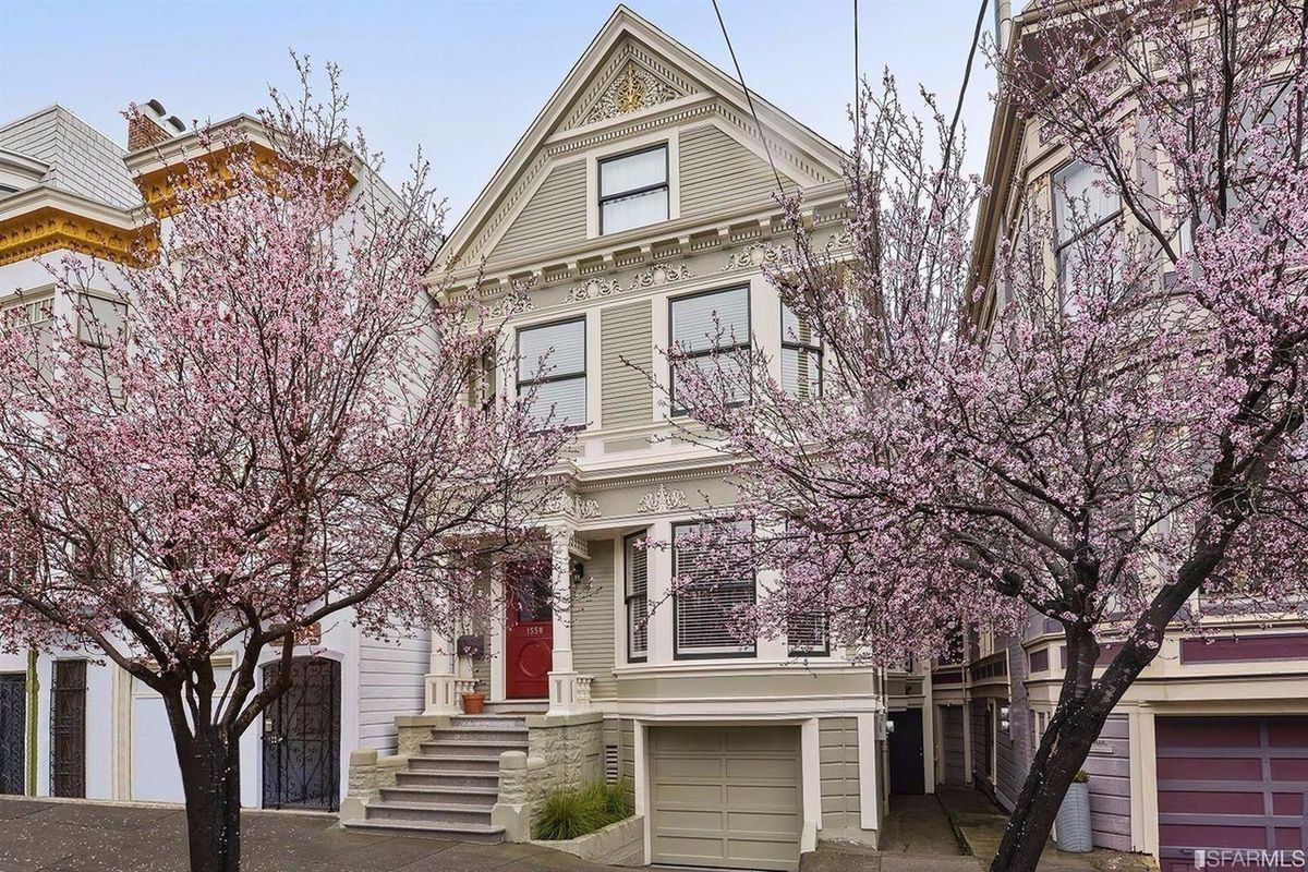 A Victorian house in the Haight.