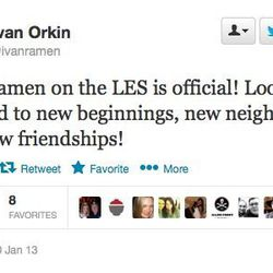 """<a href=""""http://ny.eater.com/archives/2013/01/ivan_ramen_3.php"""">Orkin Confirms That Ivan Ramen Is Coming to the LES</a>"""