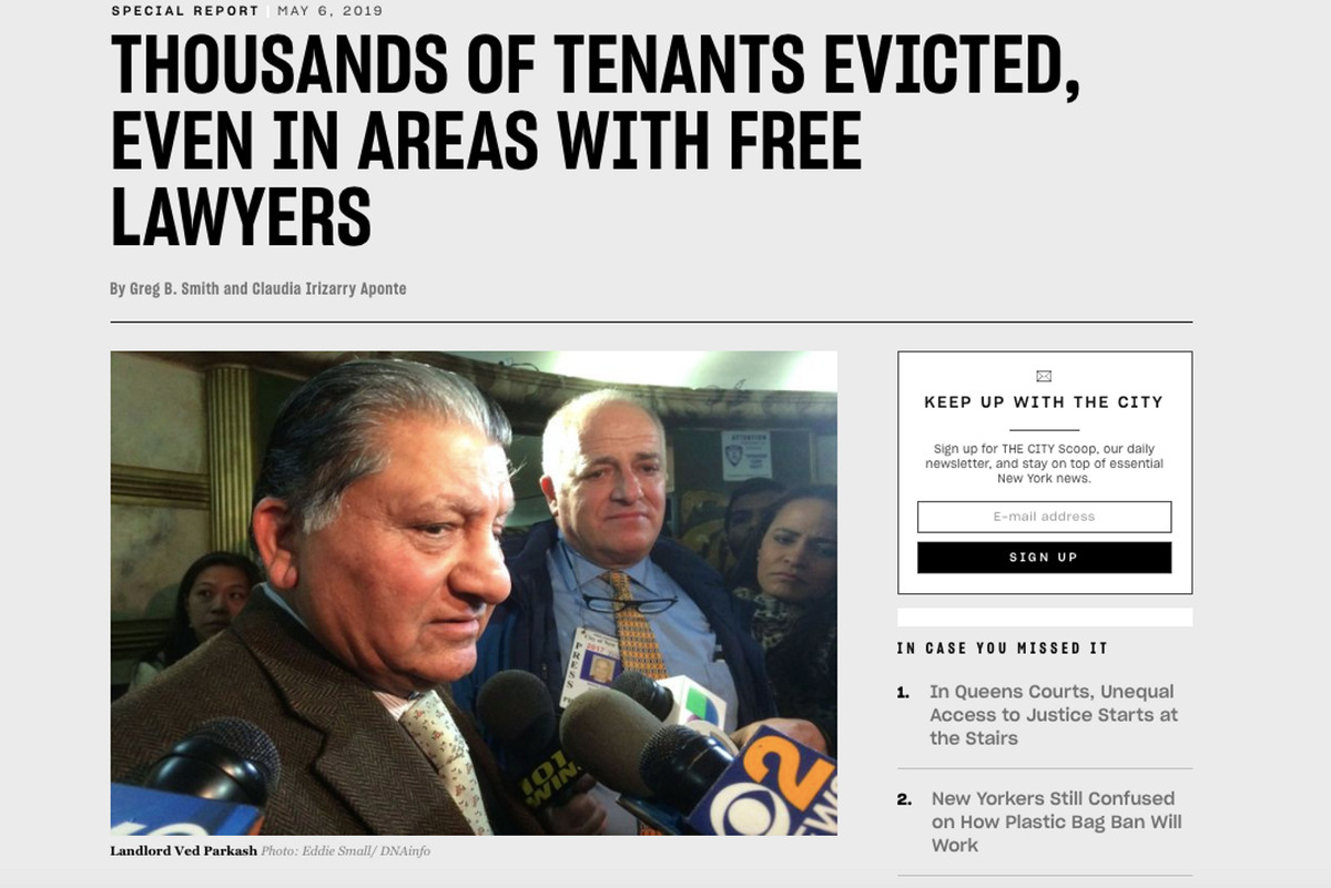 THE CITY reported in May that some landlords are still aggressively pursuing evictions in areas covered by the Right to Counsel law.