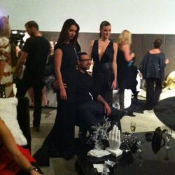 Designer Anthony Franco and his muses.