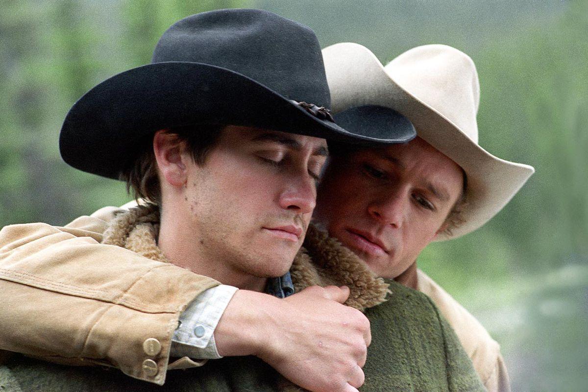 Heath Ledger, Jake Gyllenhaal in Brokeback Mountain.