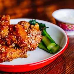 <strong>General Tso's chicken wings</strong>