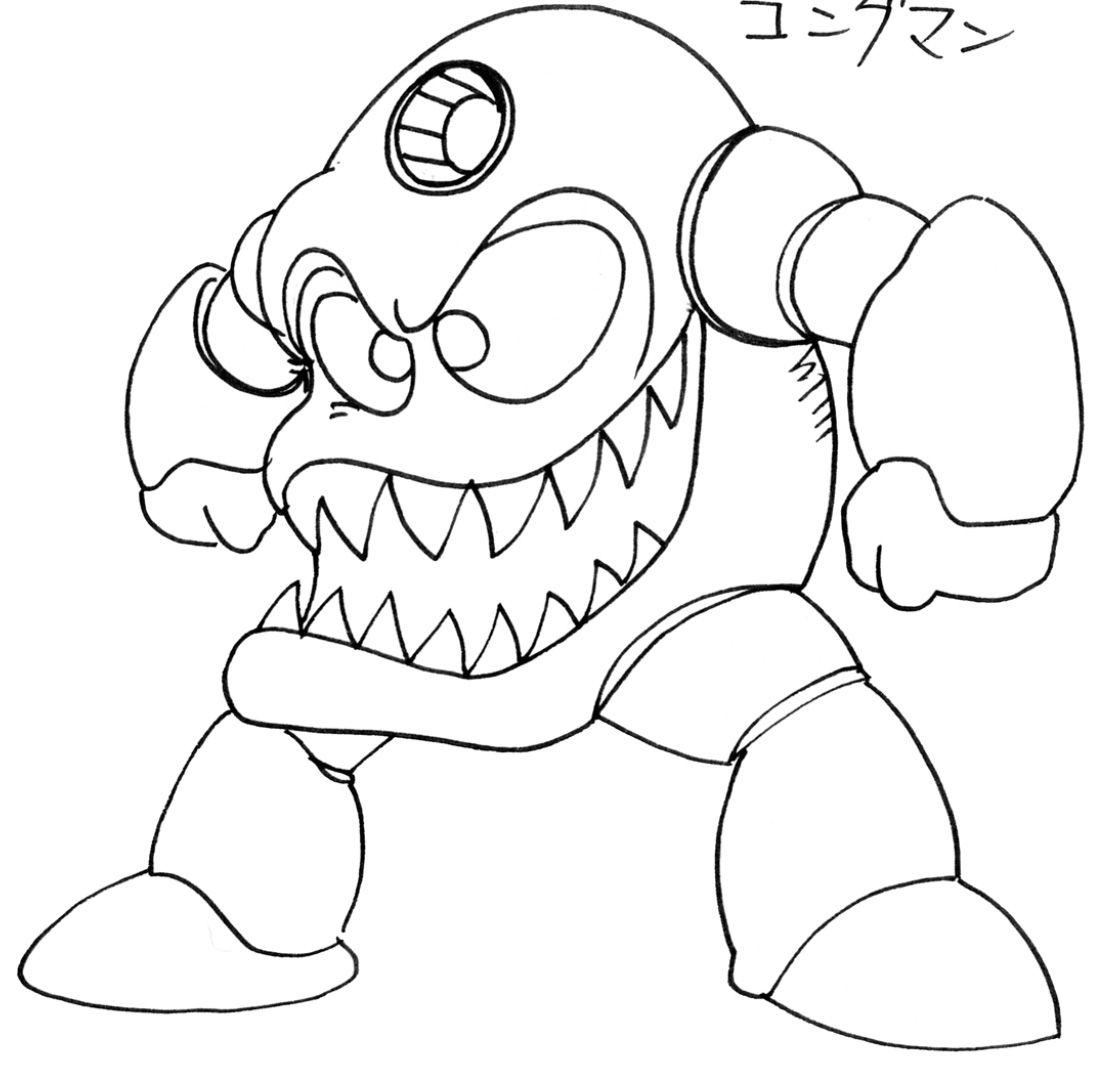 Megaman x coloring pages - Mega Man Legacy Collection Kong Man