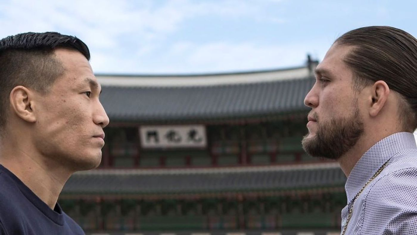 S—t just got real during this Korean Zombie vs Brian Ortega staredown
