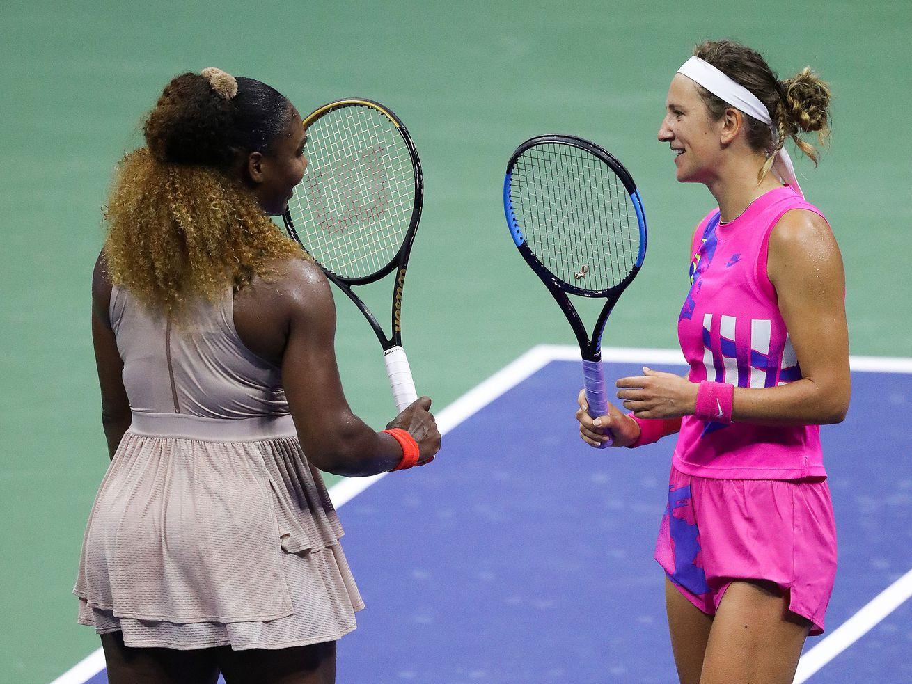 Serena Williams and Victoria Azarenka