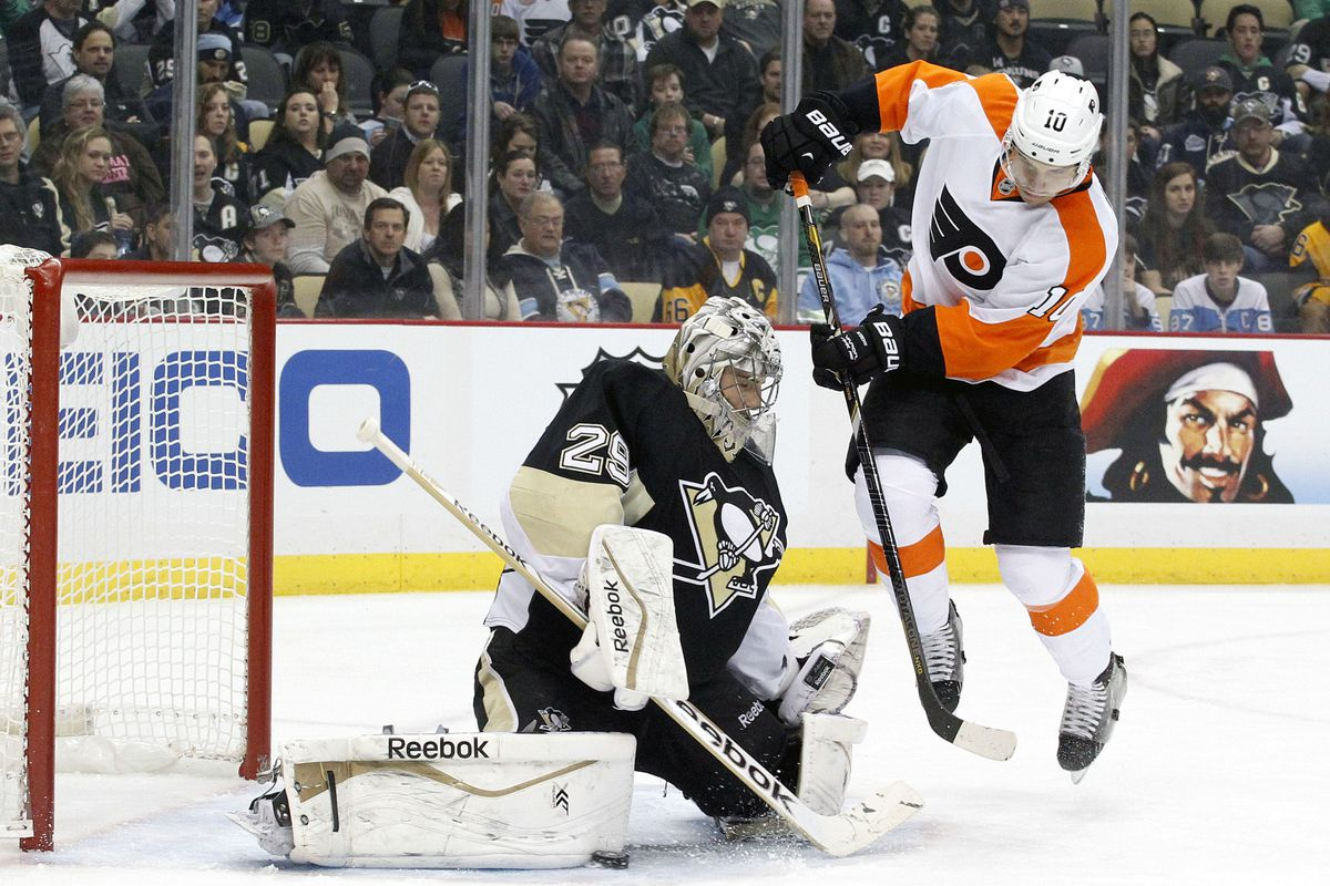 Fleury's making a save, so we know this photo is probably doctored.