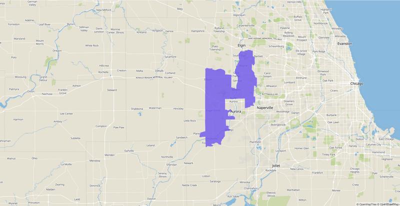 Illinois Senate 25th District map, 2020 election