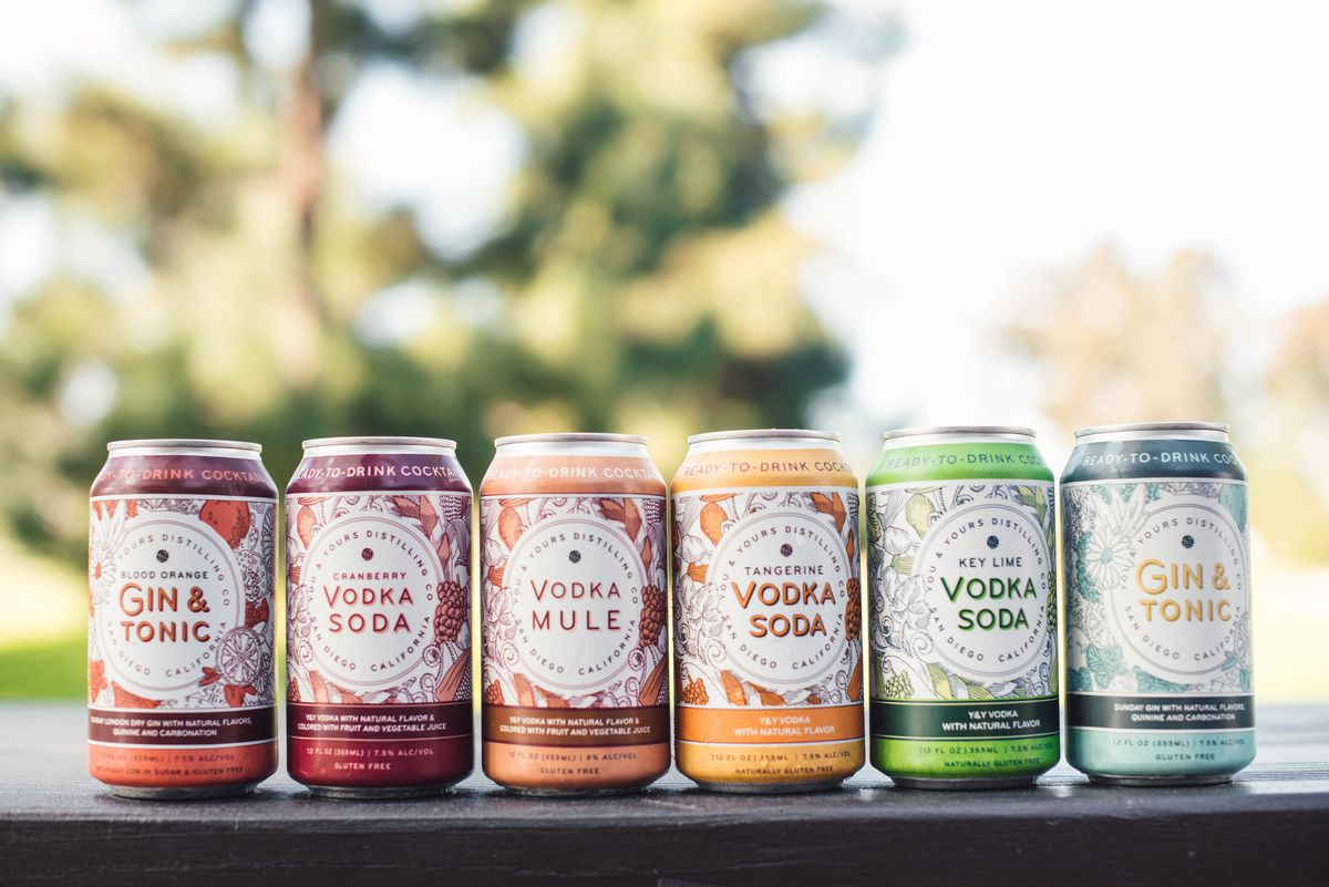 Canned cocktails by You & Yours