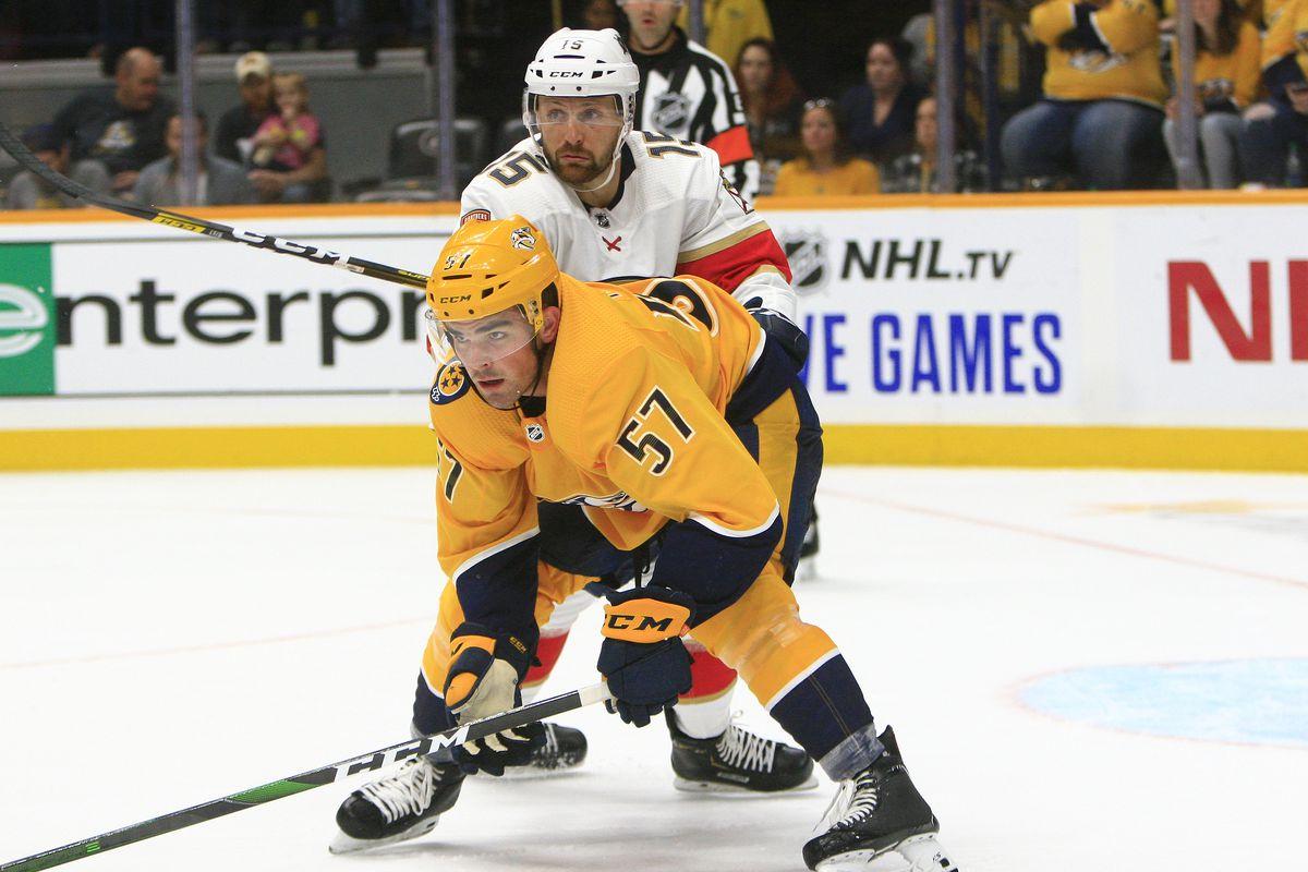 NHL: SEP 16 Preseason - Panthers at Predators