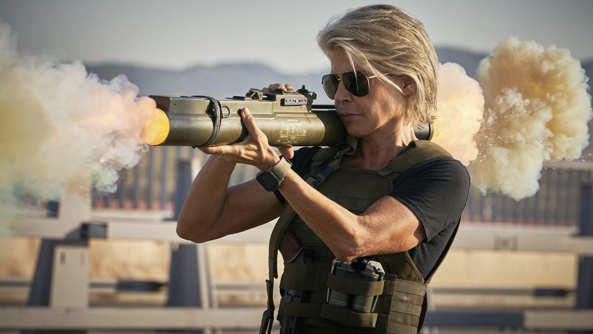 """Sarah Connor (Linda Hamilton) is still battling super killer robots in """"Terminator: Dark Fate."""""""
