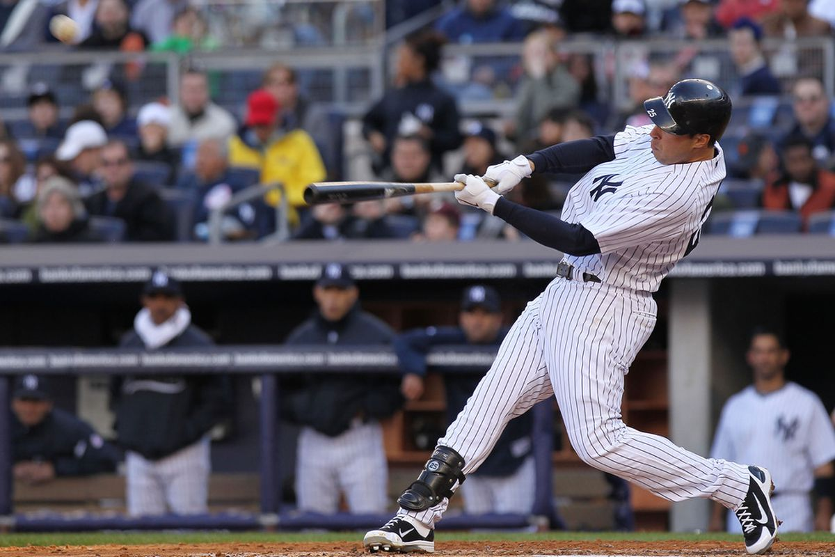 <strong>Mark Teixeira</strong> is off to a good start for the New York Yankees.  (Photo by Nick Laham/Getty Images)