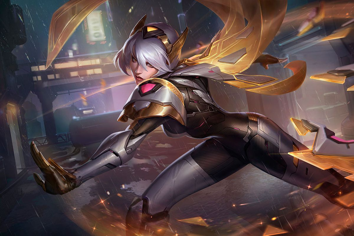 PROJECT: Irelia Prestige Edition shoots out her blades with her visor up