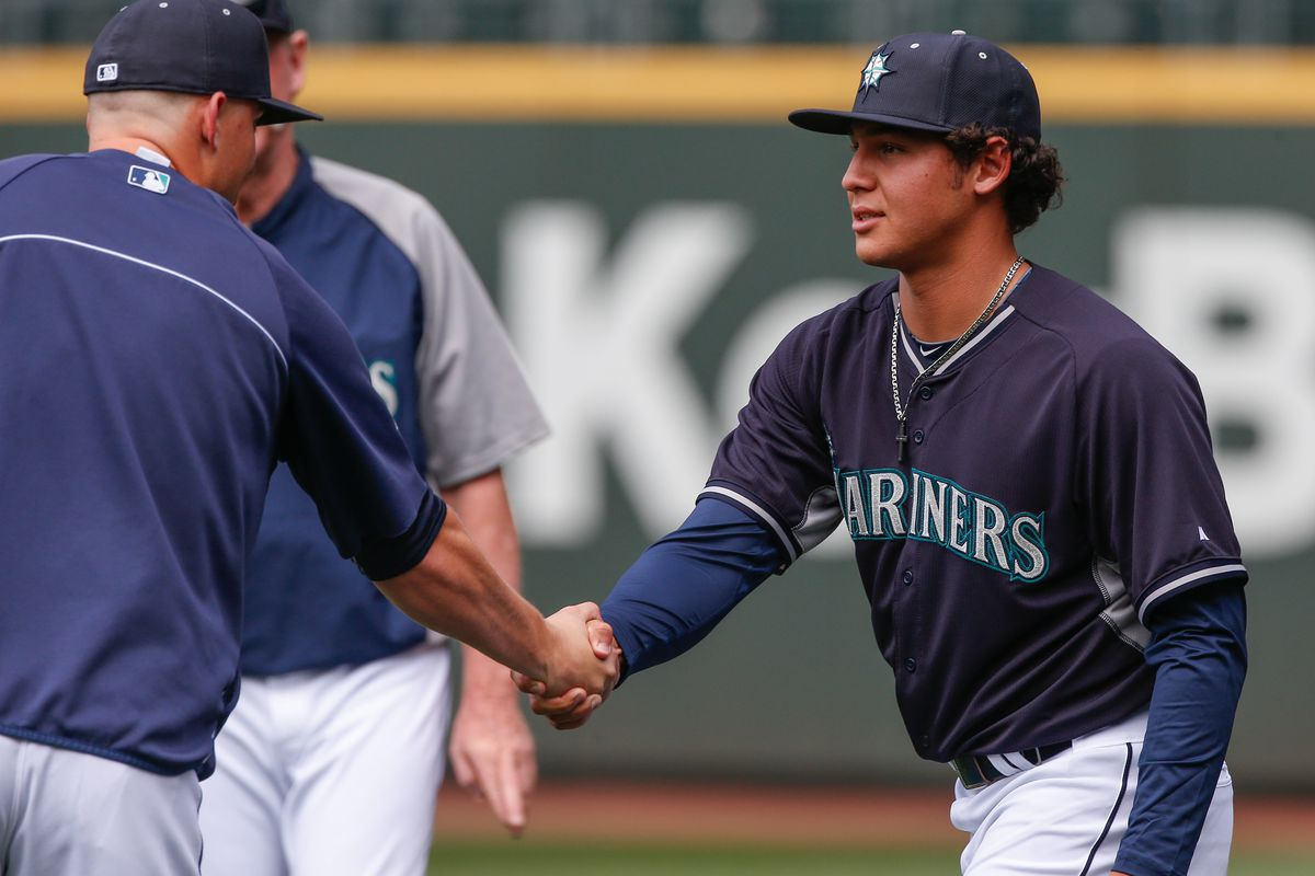 Kyle Seager (left) and 2014 draft pick Alex Jackson