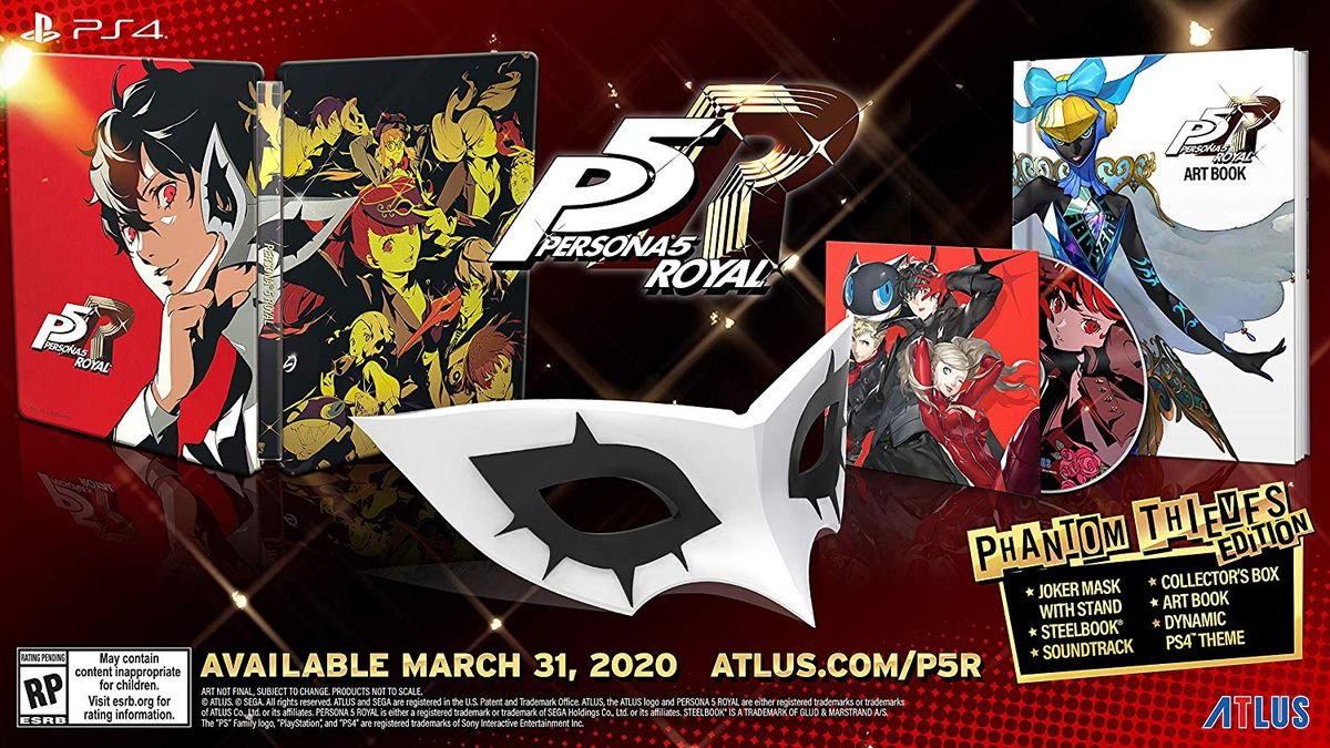 A product shot of the Persona 5 Royal launch edition