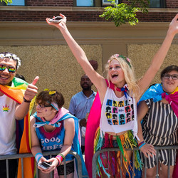 People come from all over to celebrate in Boystown.    Rick Majewski for the Sun-Times