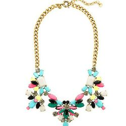 """<a href=""""http://www.jcrew.com/womens_category/jewelry/necklaces/PRDOVR~05975/99103166527/ENE~1+2+3+22+4294967294+20~~P_new_to_sale 1  P_priority 0~21+17+4294966661~90~~~~~~~/05975.jsp"""">Technicolor Floral Necklace</a>, $60 (was $165)"""