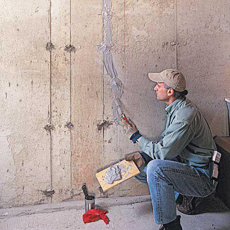 Applying Epoxy Sealer on Crack on Concrete Wall