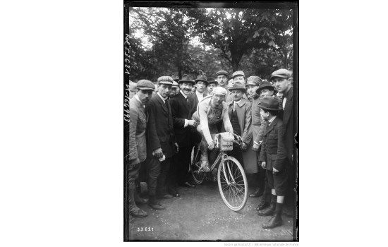 Jean Alavoine, photographed during the Tour of the Battlefields, when the race arrived in Paris