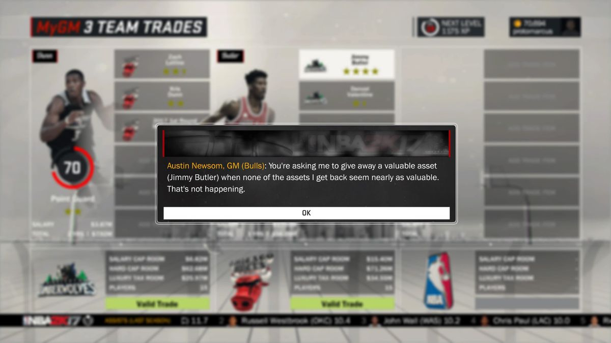 NBA 2K' Bulls are pissed at the idea of the actual Jimmy Butler