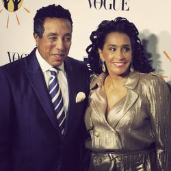 Motown legend Smokey Robinson and wife Claudette.