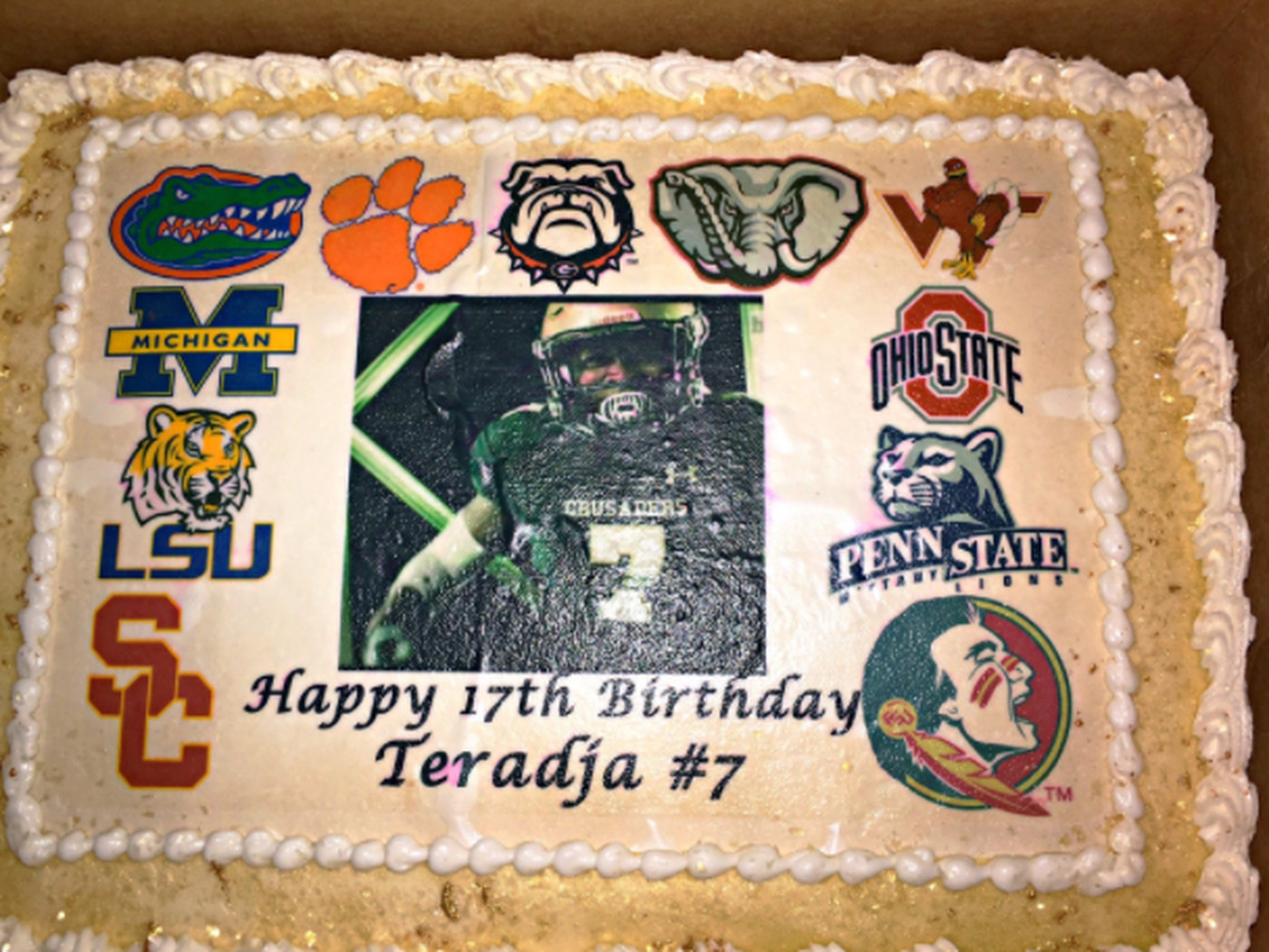 5 Star Teradja Mitchell Takes Advantage Of His Birthday And Reveals Top 11 Schools With Cake