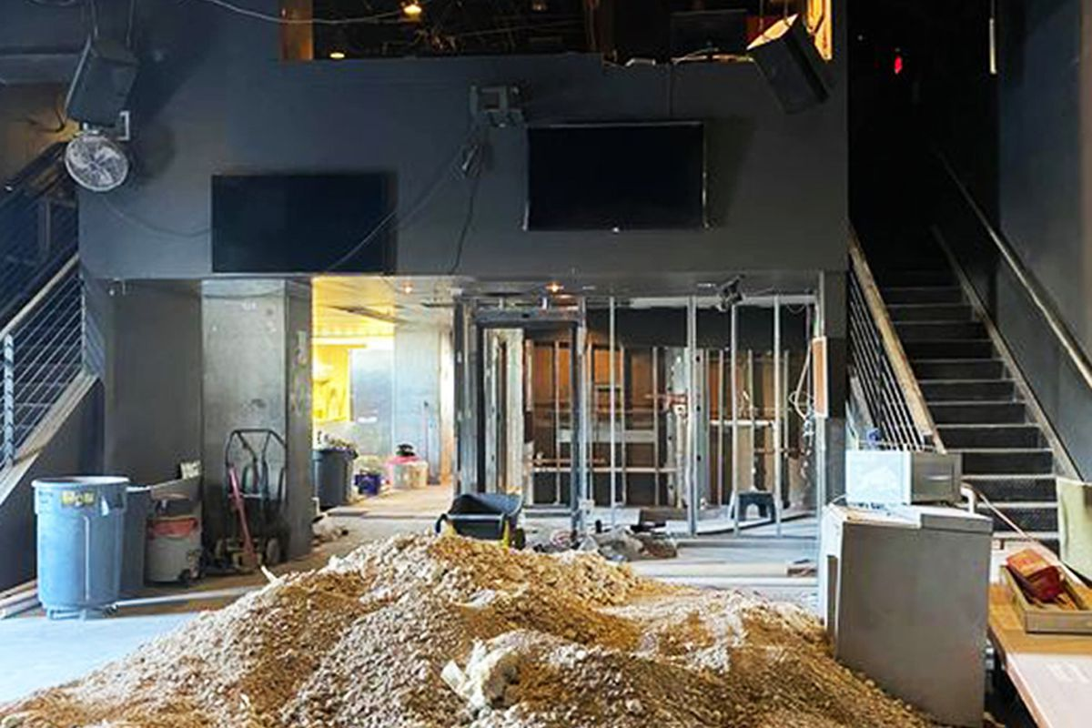 The interior remodel and expansion at downtown's Oddfellows nightclub.