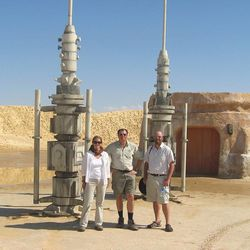 BYU geologist Jani Radebaugh is at left next to Ralph Lorenz of Johns Hopkins University and Jason W. Barnes of the University of Idaho in this photo from September 2009.