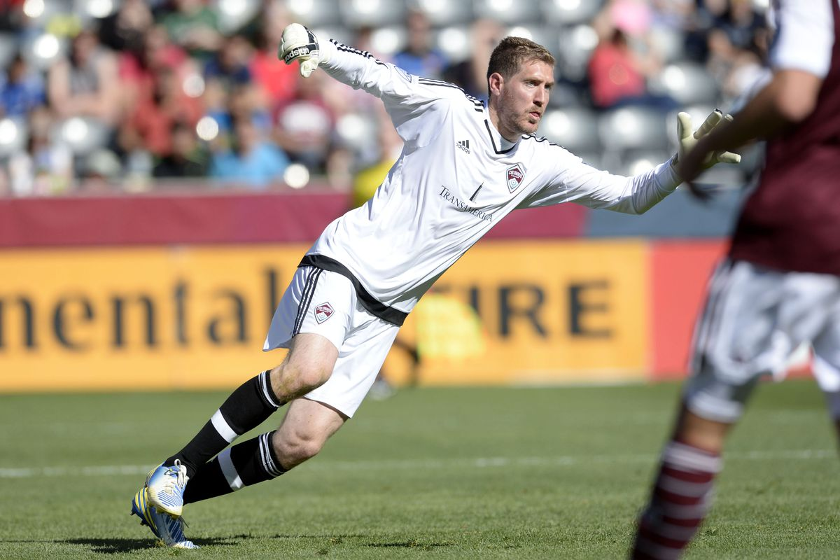 Clint Irwin prepares to make a save in the second half.