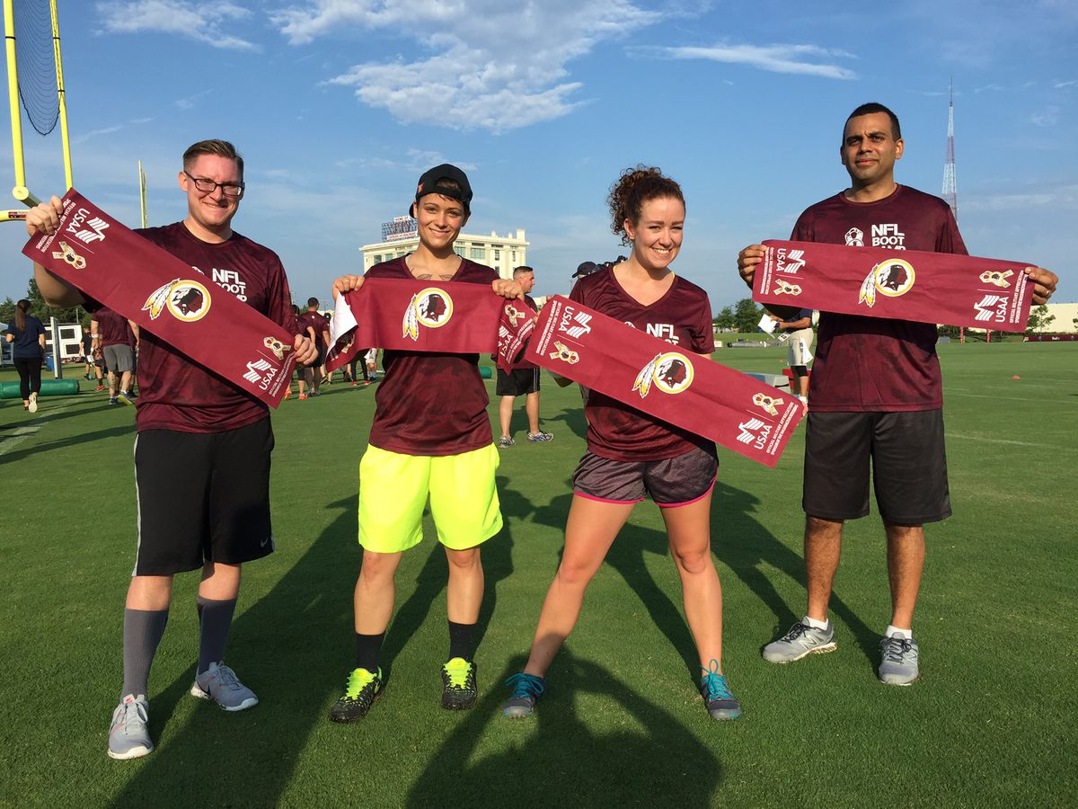 promo code 9bae0 3fc46 Local Military Members Open Training Camp For the Redskins ...